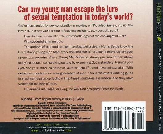 Every Young Man's Battle: Strategies for Victory in the Real World of Sexual Temptation Unabridged Audiobook on CD