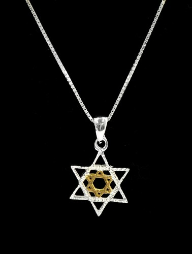 Star of David Pendant, Gold and Silver