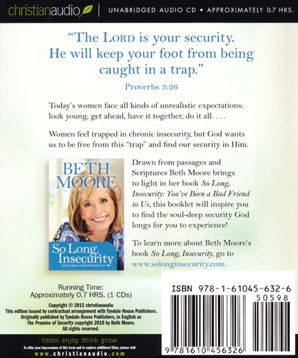 Promise of Security Unabridged Audiobook on CD