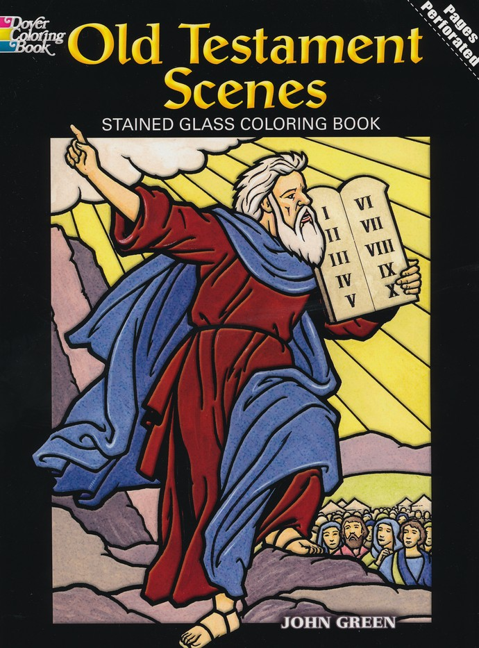 Old Testament Scenes Stained Glass Coloring Book