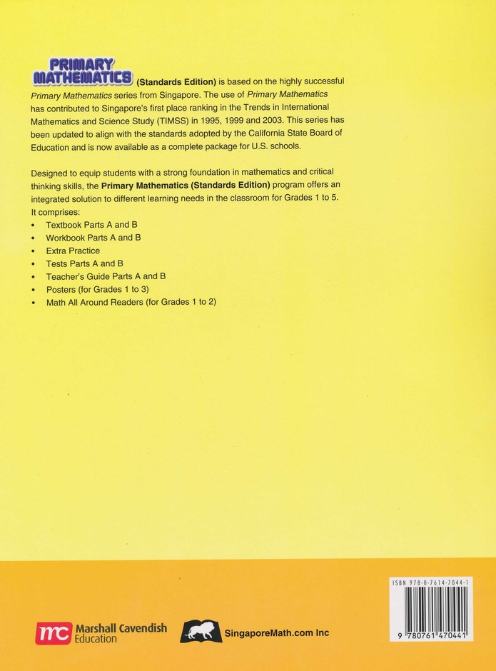 Primary Mathematics Teacher's Guide 1A (Standards Edition)