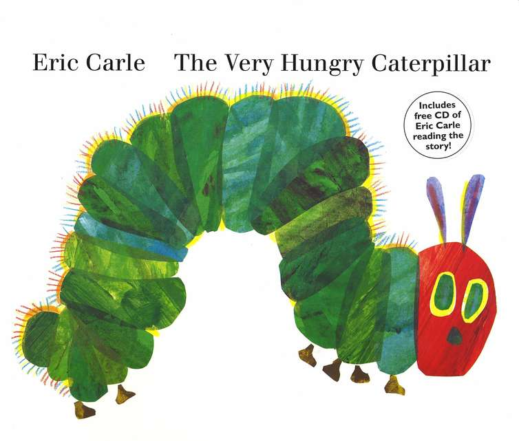 The Very Hungry Caterpillar, Oversized Board Book with CD