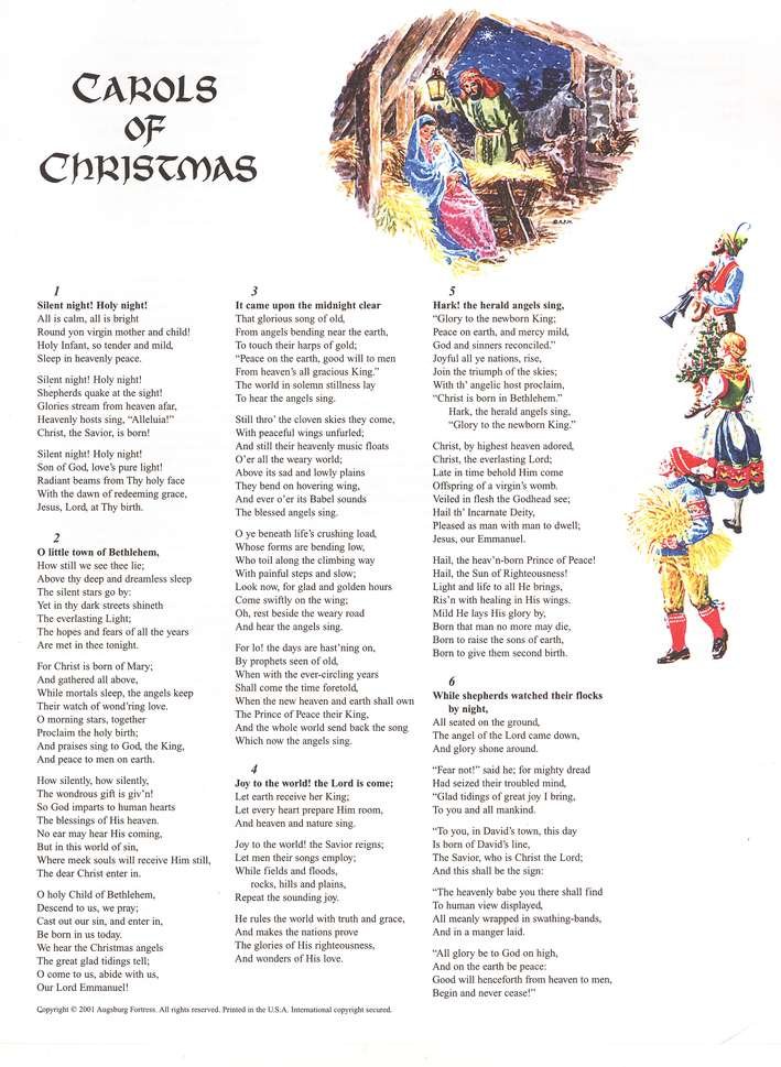 Carols of Christmas, Words-Only Edition