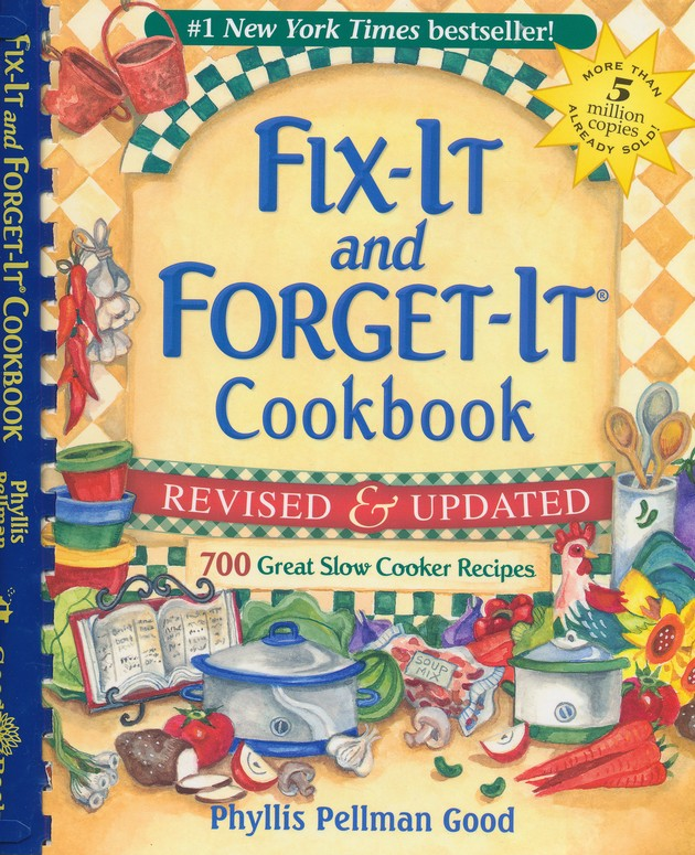 Fix-It and Forget-It Cookbook, Spiral, Revised and  Updated - Slightly Imperfect