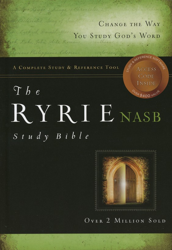 NAS Ryrie Study Bible Hardcover, Thumb-Indexed