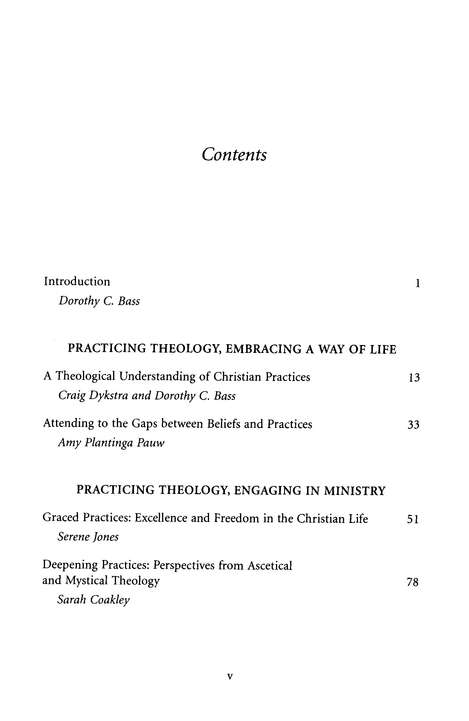 Practicing Theology: Beliefs and Practices in Christian Life