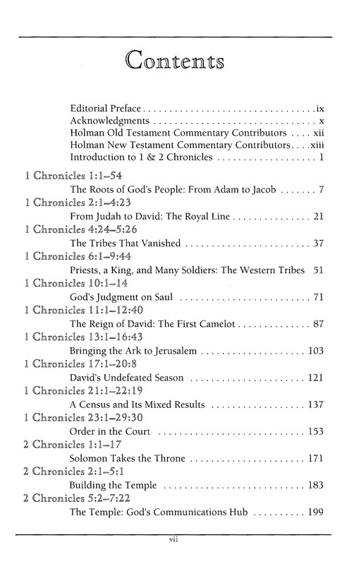 I&II Chronicles: Holman Old Testament Commentary [HOTC]
