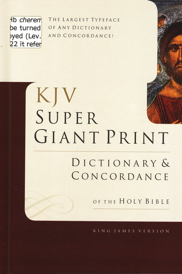 KJV Super Giant-Print Dictionary & Concordance