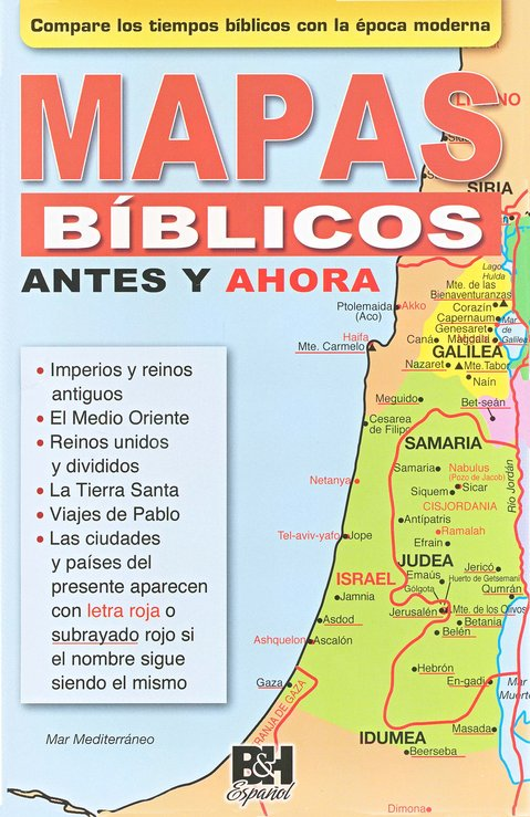 Mapas Bíblicos Antes y Ahora - Pamfleto  (Then and Now Bible Maps Pamphlet)