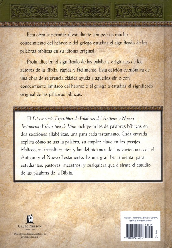 Diccionario Expositivo de Palabras del AT y NT Vine  (Vine's Dictionary of the OT and NT)