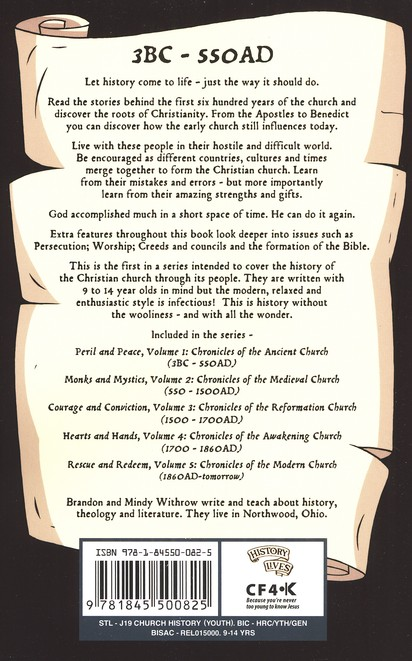 Peril & Peace: Chronicles of the Ancient Church: History Lives: Volume 1