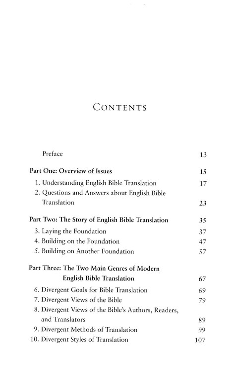 Understanding English Bible Translation: The Case for an Essentially Literal Approach