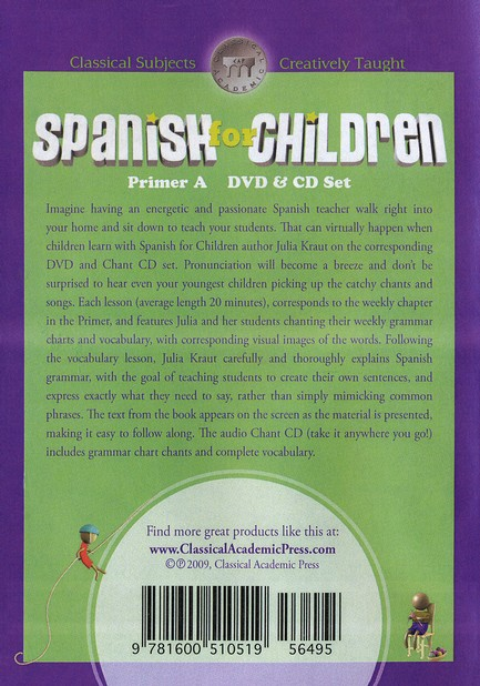 Spanish for Children Primer A DVD Set