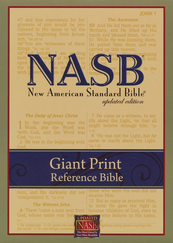 NASB Giant-Print Reference Bible, Imitation leather  Black,