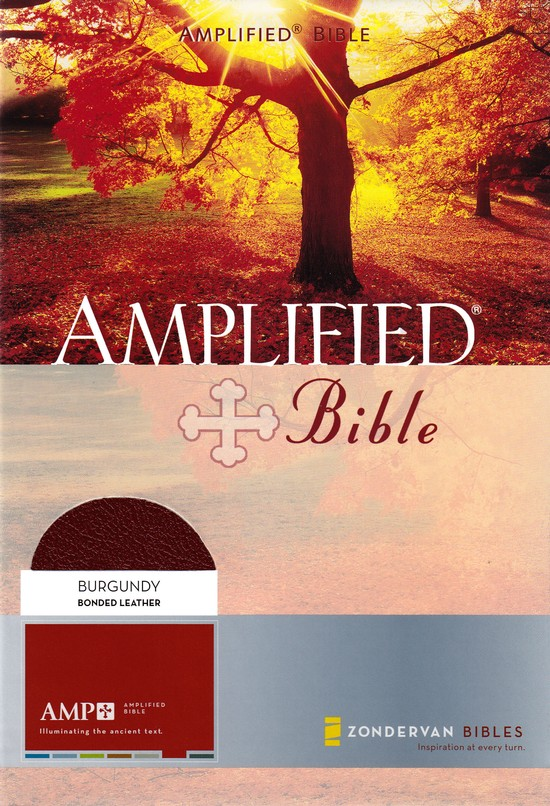Amplified Bible, Burgundy Bonded Leather, Thumb-Indexed