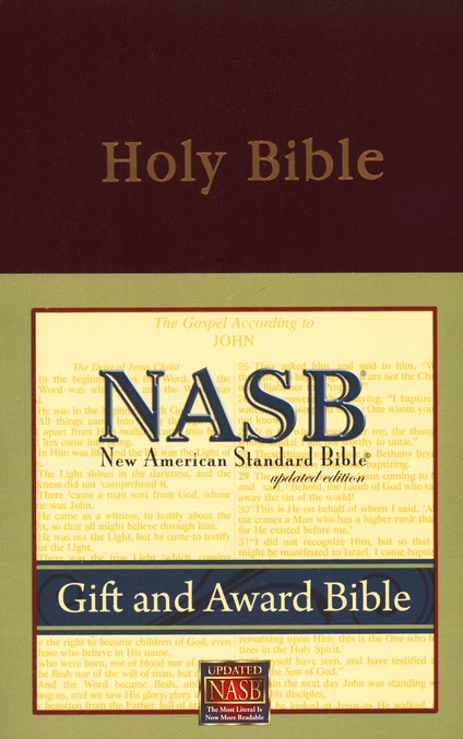 NASB Gift & Award Bible Imitation Leather, Burgundy