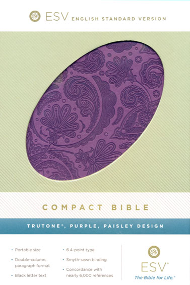 ESV Compact Bible (TruTone, Purple, Paisley Design)