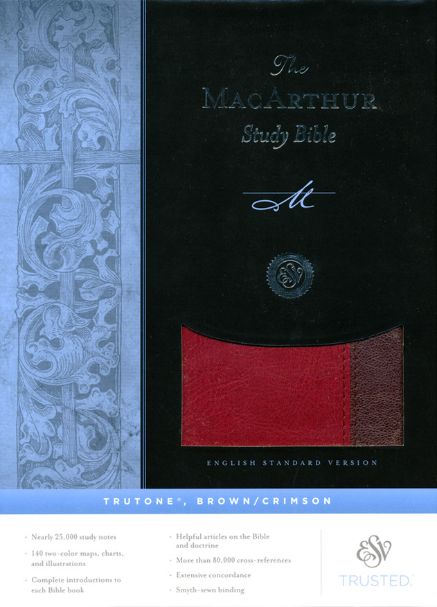 ESV MacArthur Study Bible (TruTone, Brown/Crimson)