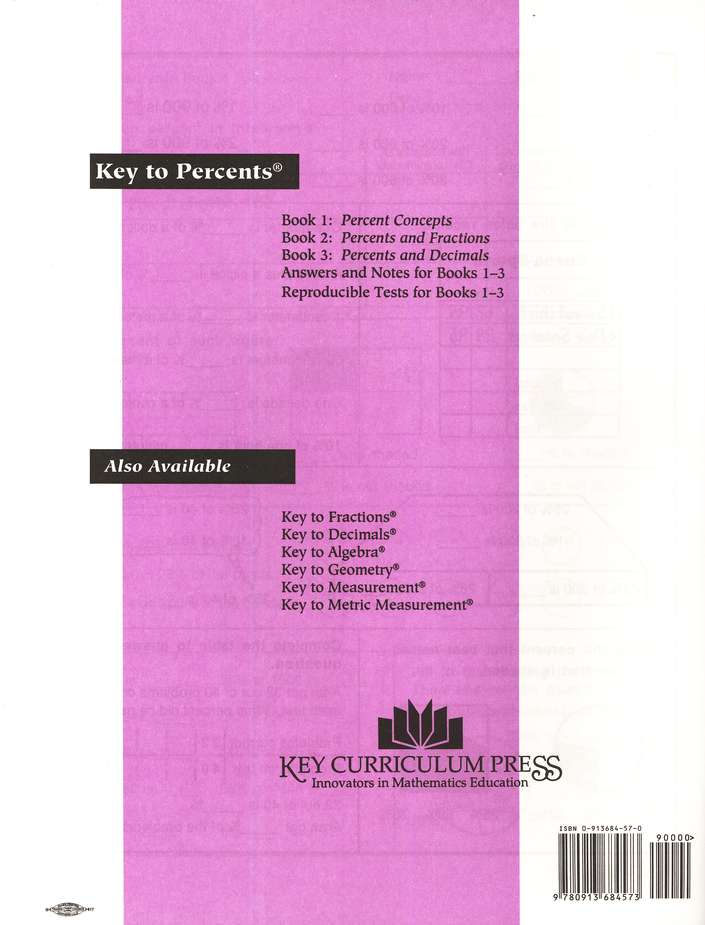 Key To Percents Books 1-3