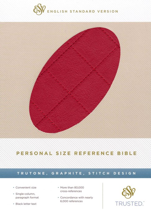 ESV Personal Size Reference Bible, TruTone, Berry, Quilt Design