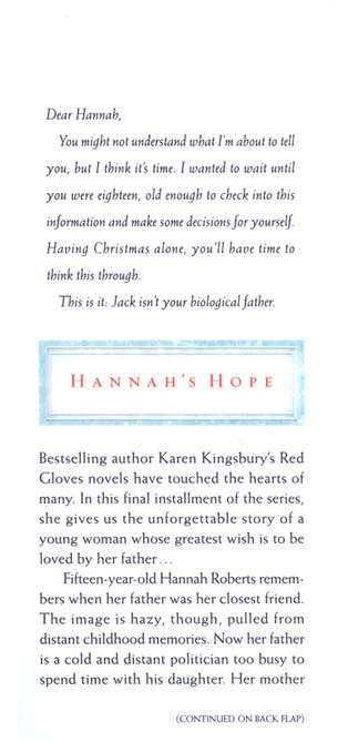 Hannah's Hope, Red Gloves Series #4