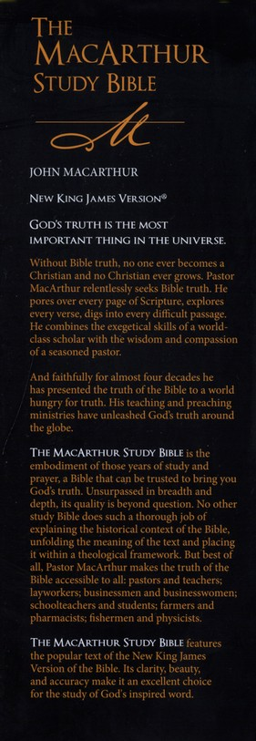 NKJV MacArthur Study Bible Large Print Hardcover Thumb-Indexed
