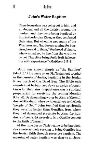 Baptism: The Believer's First Obedience