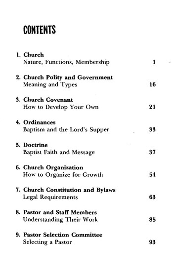 Broadman Church Manual