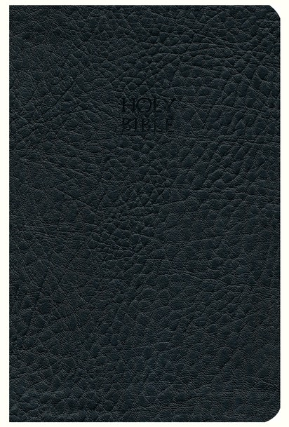 KJV Compact Ultraslim Bible - LeatherSoft Grain Black