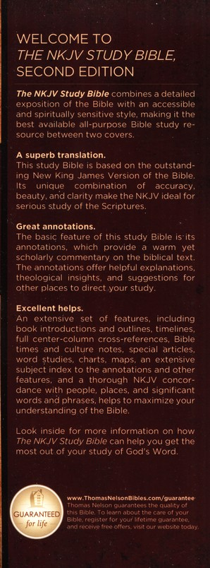NKJV Study Bible, Second Edition, Hardcover