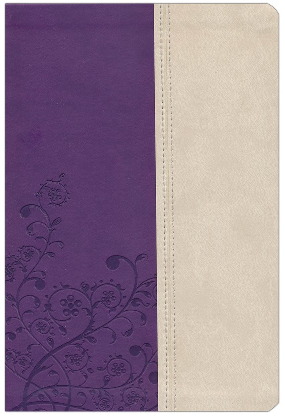 KJV The Woman's Study Bible, Leathersoft, grape/ivory
