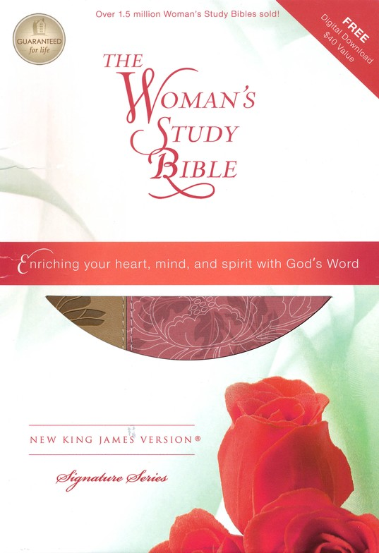 NKJV The Woman's Study Bible, Personal Size, Fabric/leathersoft, pink/caf&#233 au lait