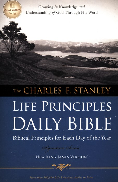 NKJV Charles Stanley Life Principles Daily Bible,  Repackaged