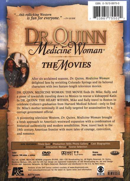 Dr. Quinn, Medicine Woman: The Movies, DVD
