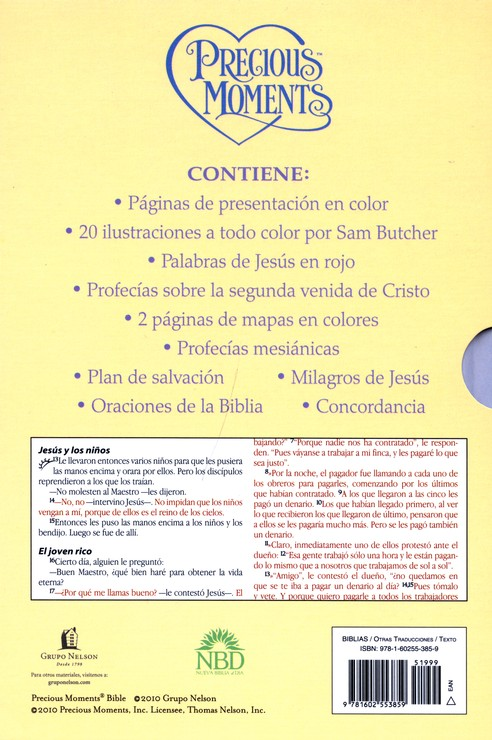 Biblia Precious Moments NBD, Enc. Dura, Amarillo  (NBD Precious Moments Bible, Hardcover, Yellow)