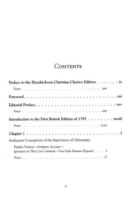 A Practical View of Christianity: Hendrickson Christian Classics