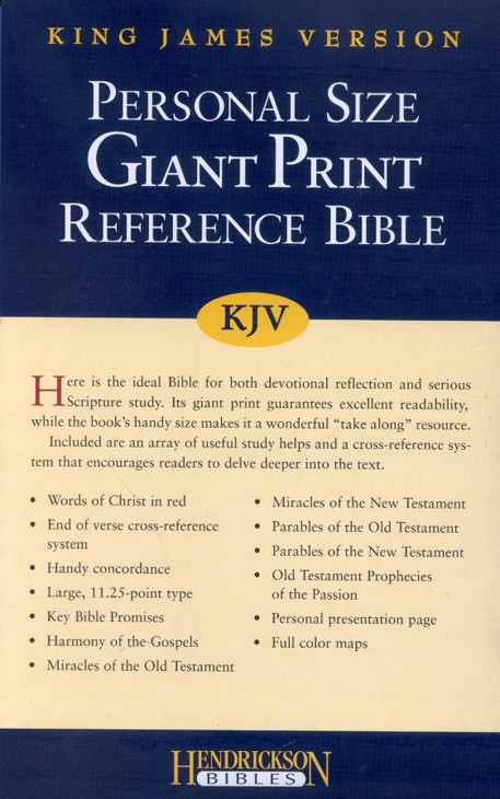 KJV Giant Print Reference Bible, Imitation Leather, Blue/Green