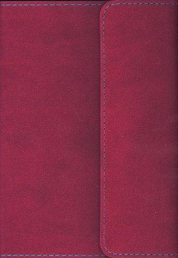 KJV Large Print Compact Reference Bible with Flap Flexisoft Berry - Slightly Imperfect