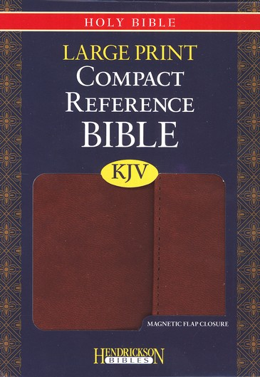 KJV Large Print Compact Reference Bible with Flap Flexisoft Espresso