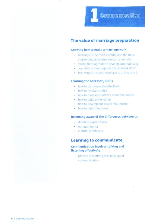 The Marriage Preparation Course, Guest Manual