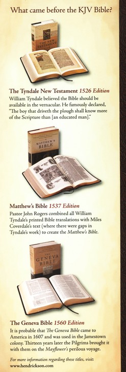 KJV 1611 Bible Without Apocrypha, 400th Anniversary Edition Deluxe Hardcover