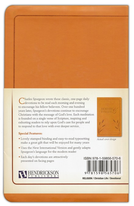Morning and Evening, NIV edition, flexisoft leather light tan