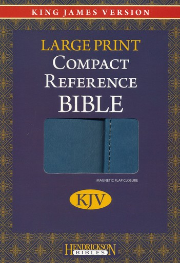 KJV Large Print Compact Reference Bible with Flap Flexisoft Blue