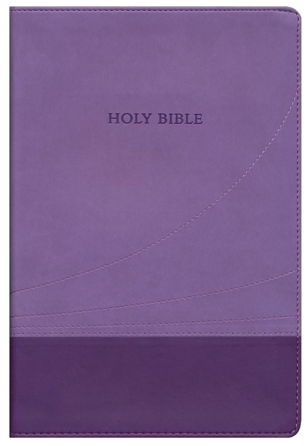 KJV Large Print Thinline Reference Bible Flexisoft Violet/Lilac