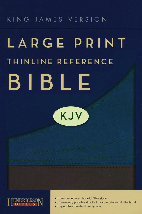 KJV Large Print Thinline Reference Bible Flexisoft Slate/Blue