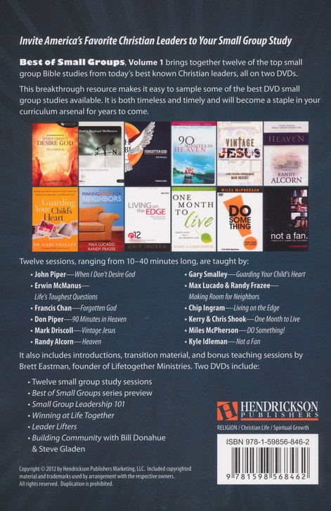 Best of Small Groups Study Guide, Volume 1