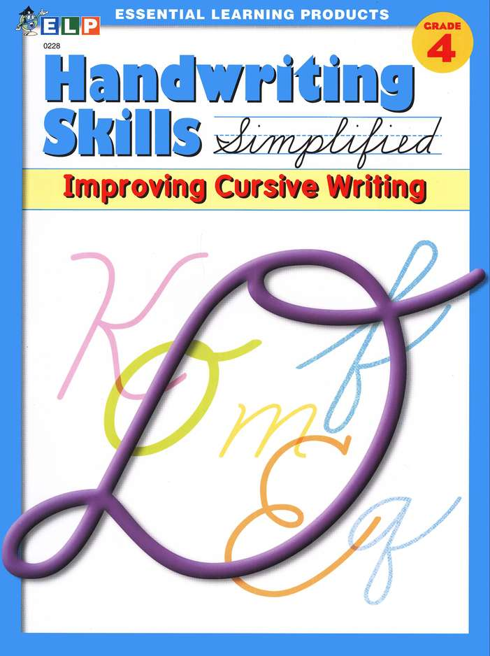 Handwriting Skills Simplified, Level D: Improving Cursive Writing