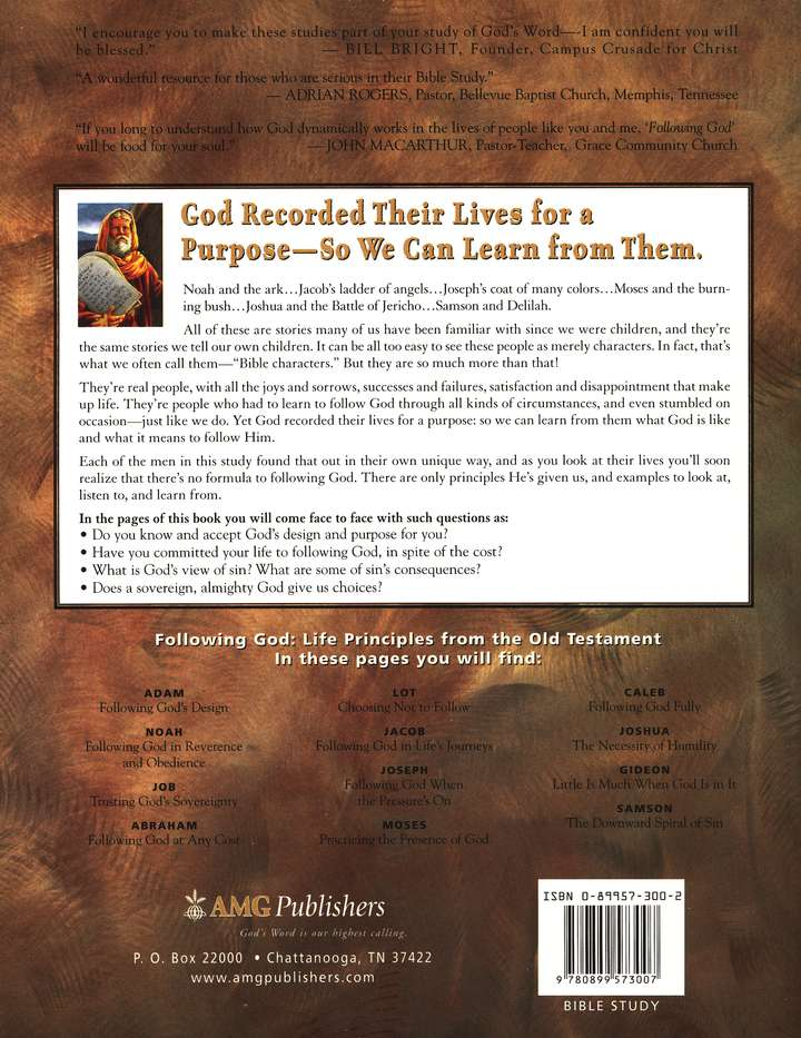 Following God Series: Life Principles from the Old Testament