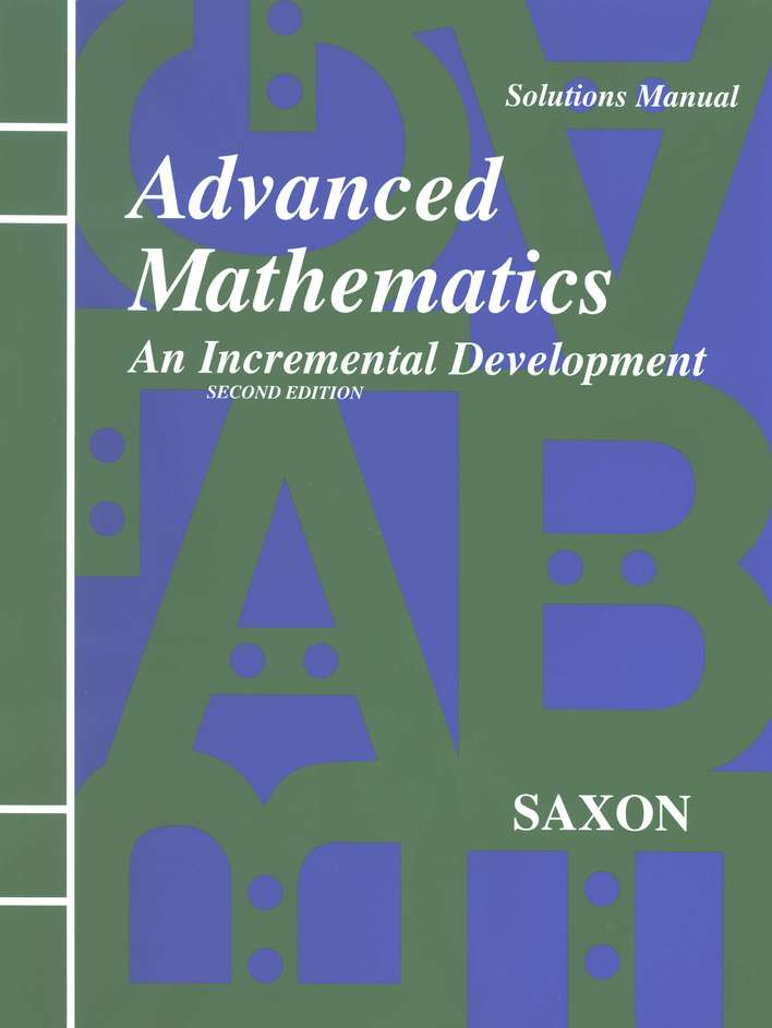 Saxon Advanced Math, Solutions Manual