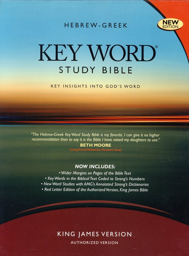 Key Word Study Bible KJV (2008 new edition), Bonded Black Leather